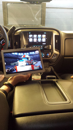 Chevrolet Silverado 4G LTE streaming video
