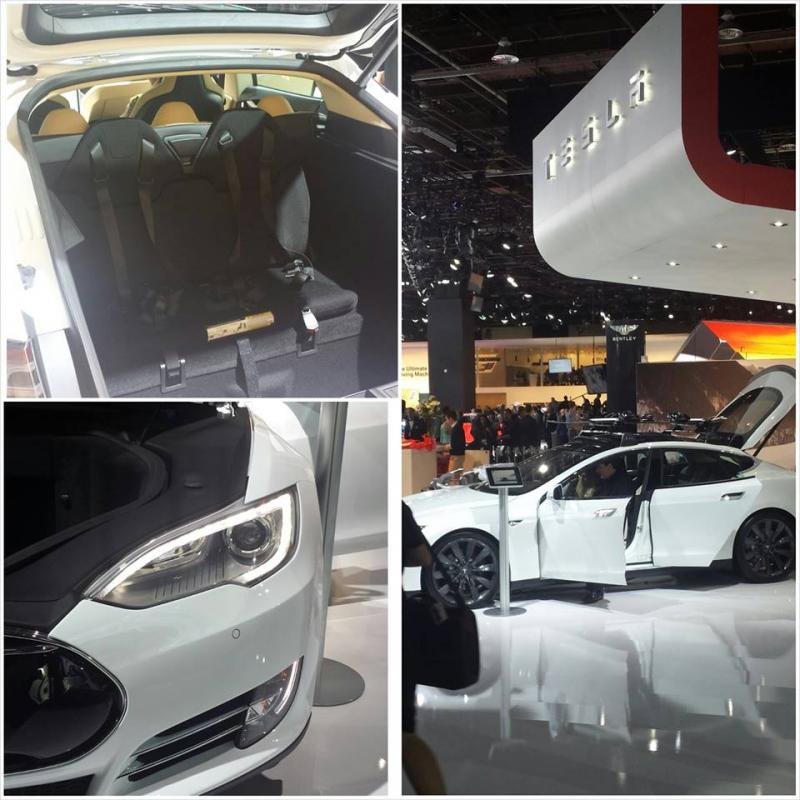 Tesla Model S children seats