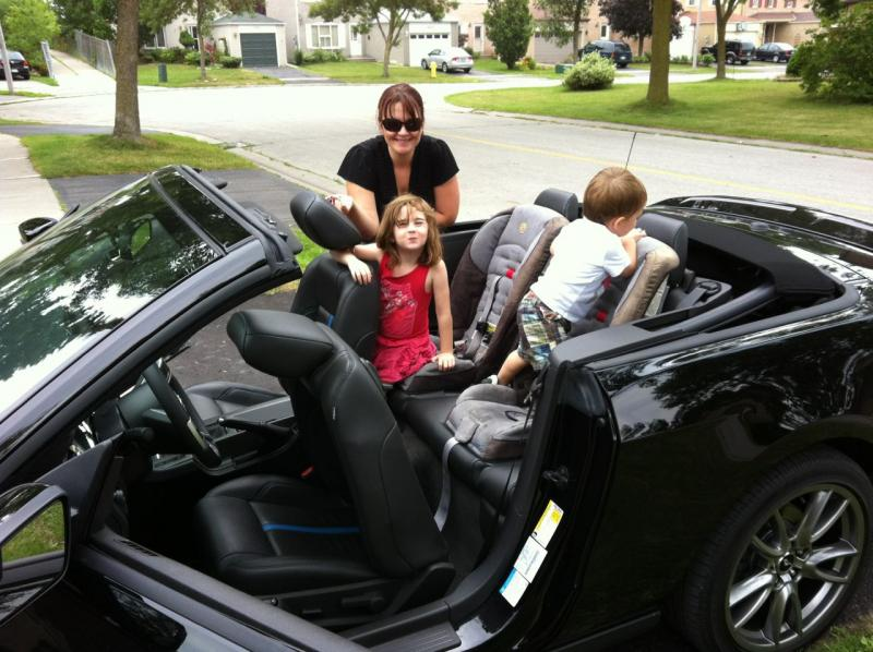 Family friendly 2012 Ford Mustang Convertible