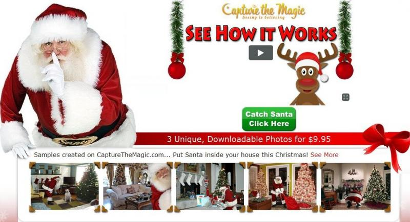 Capture Santa On Video! Watch Santa Claus Walk Past Your Christmas Tree And  Deliver Presents In Your Very Own Home! This Santa Isnu0027t Quite As Realistic  As ...