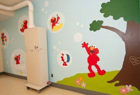 Zack 39 s dream room for Elmo wall mural
