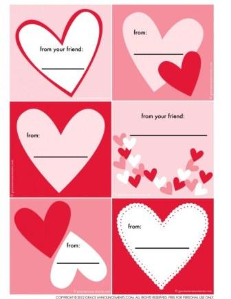 graphic about Valentines Gift Tags Printable named No cost Valentines Working day Printables :: YummyMummyClub.ca