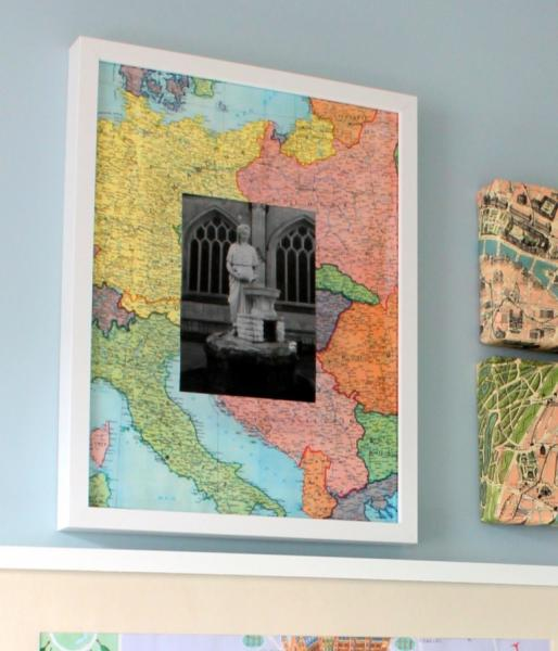 decorating with maps diy art