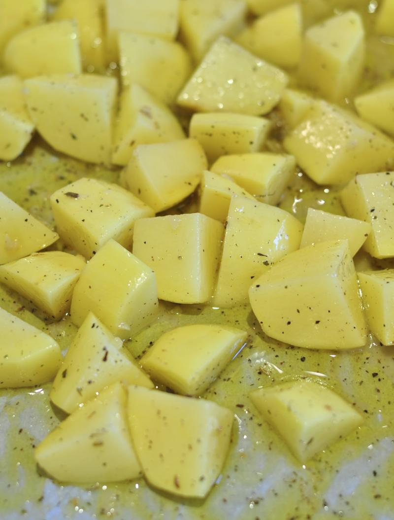 roast potatoes, herb roasted potatoes, easy roasted potatoes, easy potato recipe, best potato recipes, Around The Table, katja wulfers
