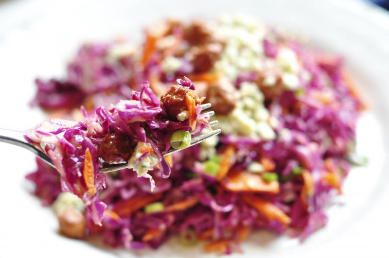red cabbage salad, easy summer salad, coleslaw recipe, easy coleslaw recipe, Favourite Salads, blue cheese salad