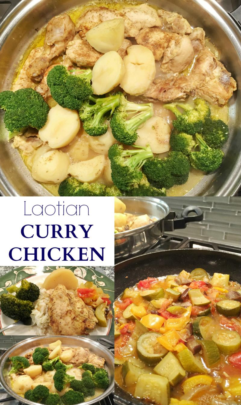 An easy, Laotian curry chicken recipe that will please the entire family and is perfect for Sunday dinner.
