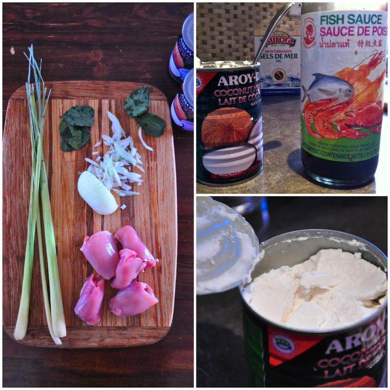 Mok kai, Lao coconut chicken, Laos, coconut, chicken recipe, Asian, Around The Table, Katja Wulfers, simple ingredients