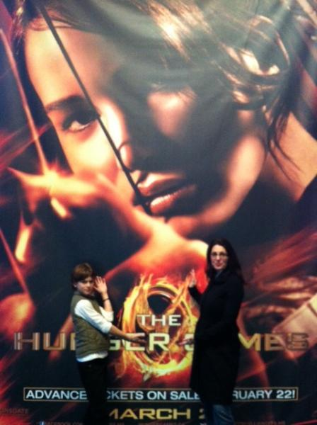 Erica Ehm and Son at Hunger Games