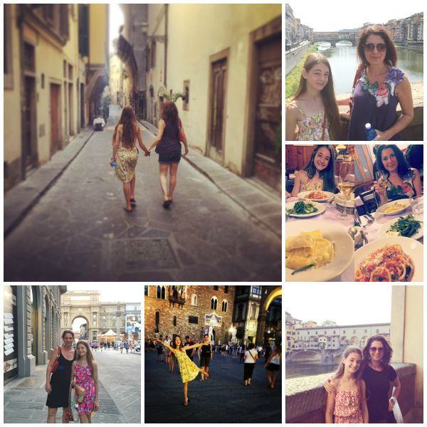 Erica Ehm and daughter in Florence