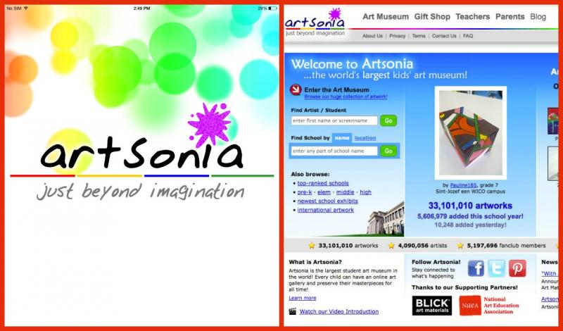 Artsonia art storage app
