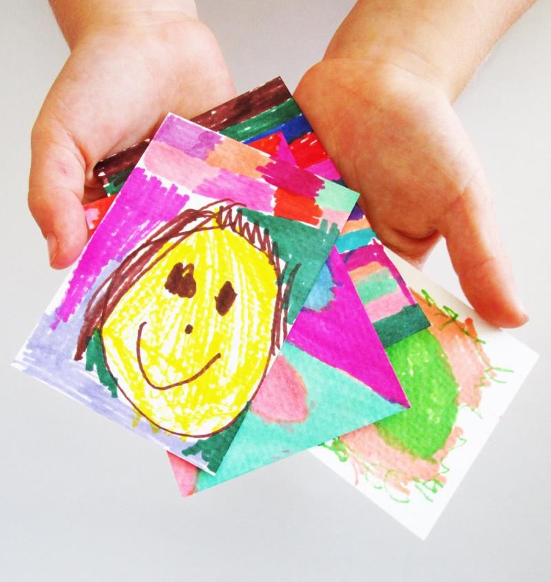 Artist trading cards are perfect for little hands.
