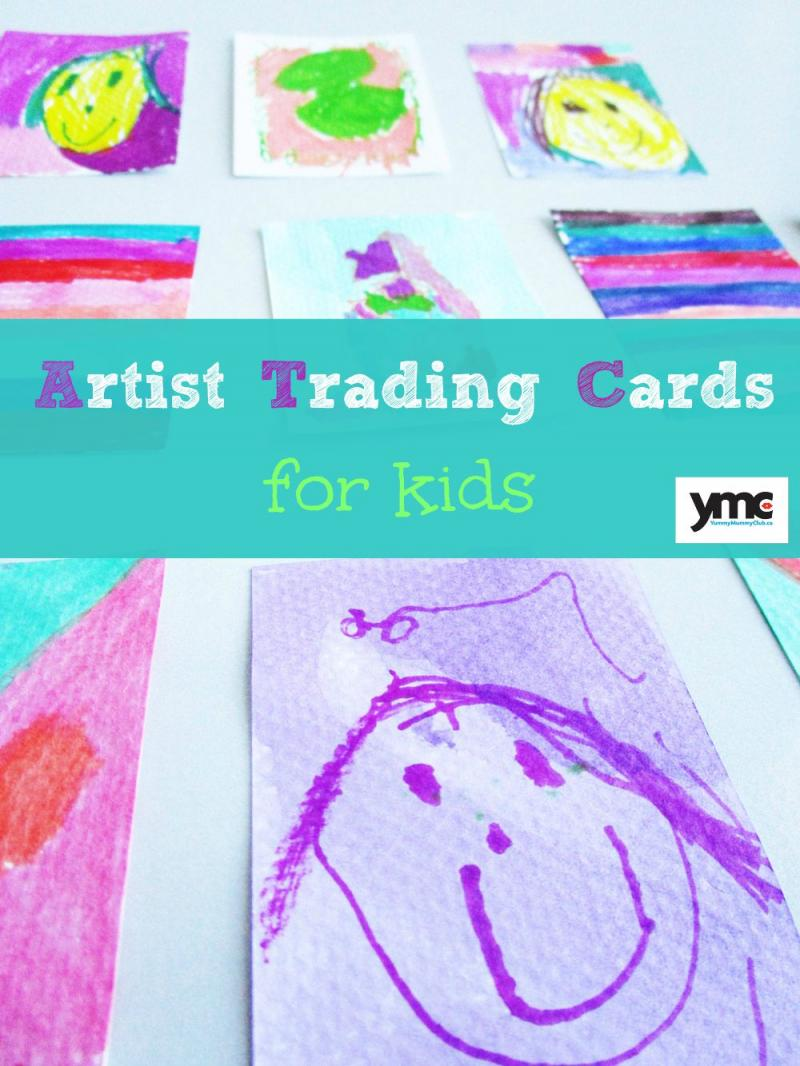 Artist trading cards for kids.