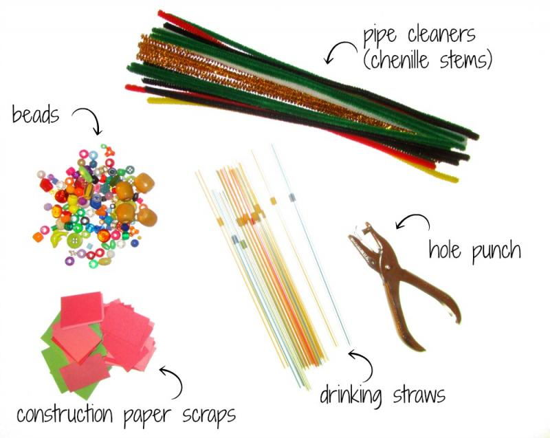Christmas ornament crafting supplies