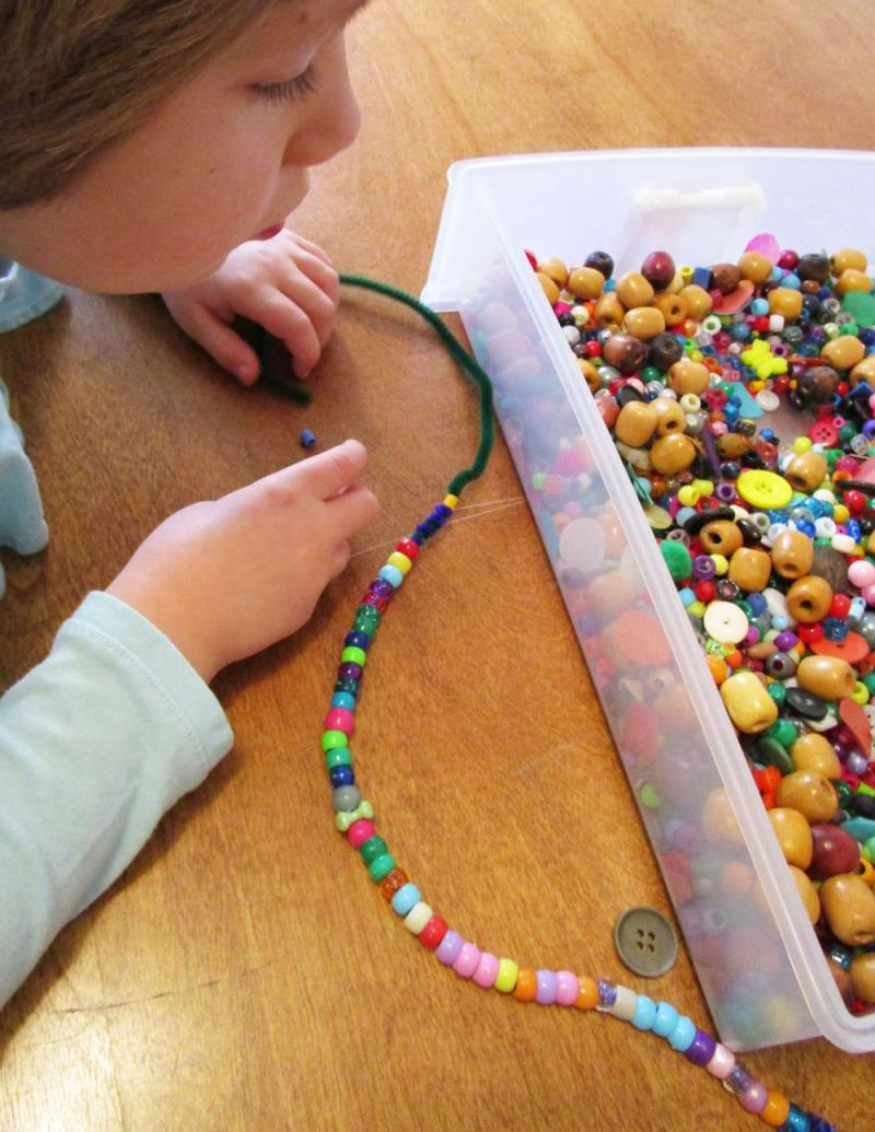 Selecting beads