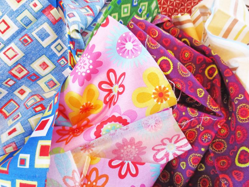 Fat quarters is a fancy way of saying fabric pieces.