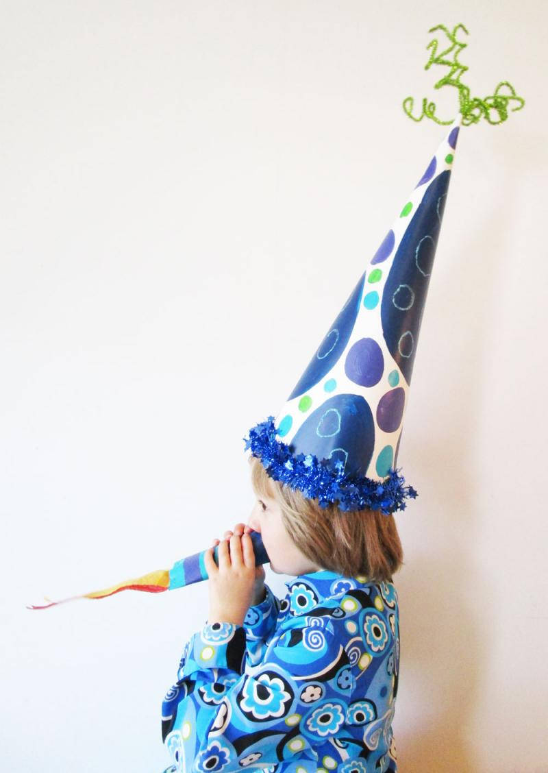 DIY New Year's Eve hat