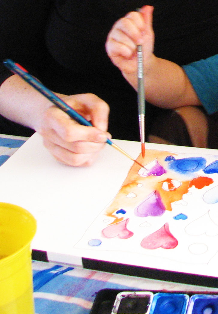Make a collaborative work of art with your kids.