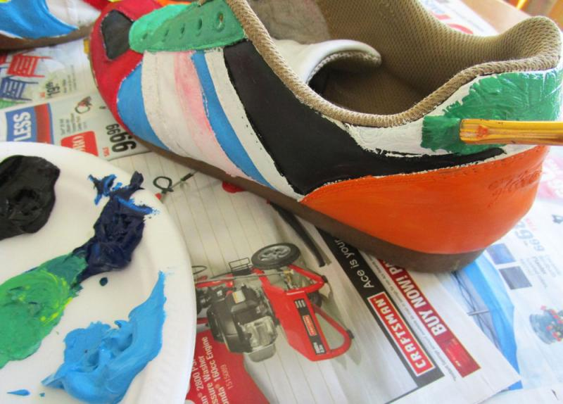 Paint the shoes!