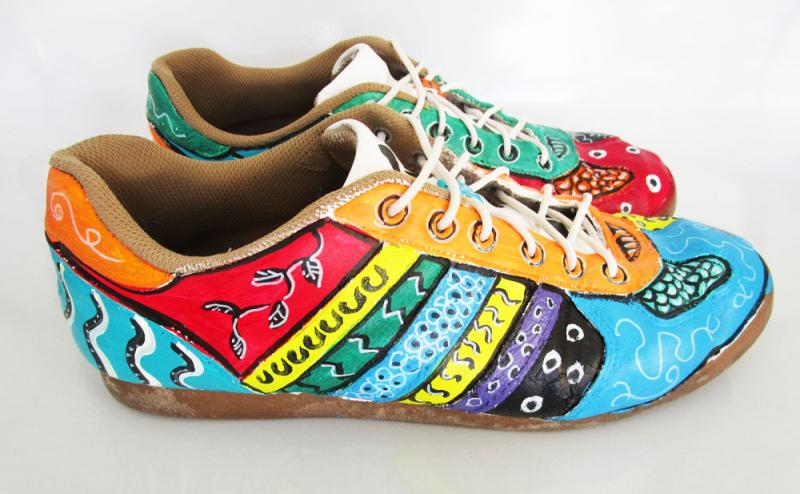 Painted shoes - after.