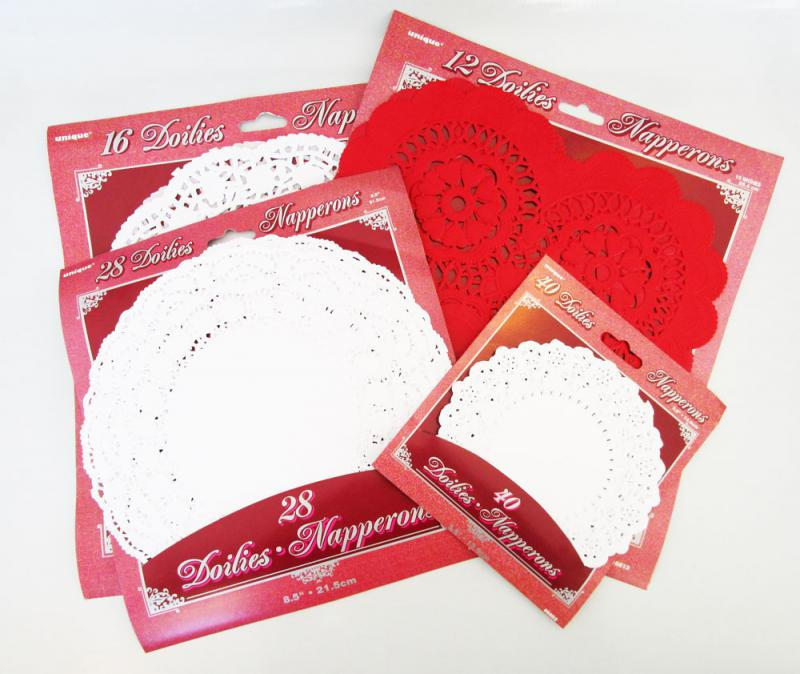 Pick up some doilies at the craft store.