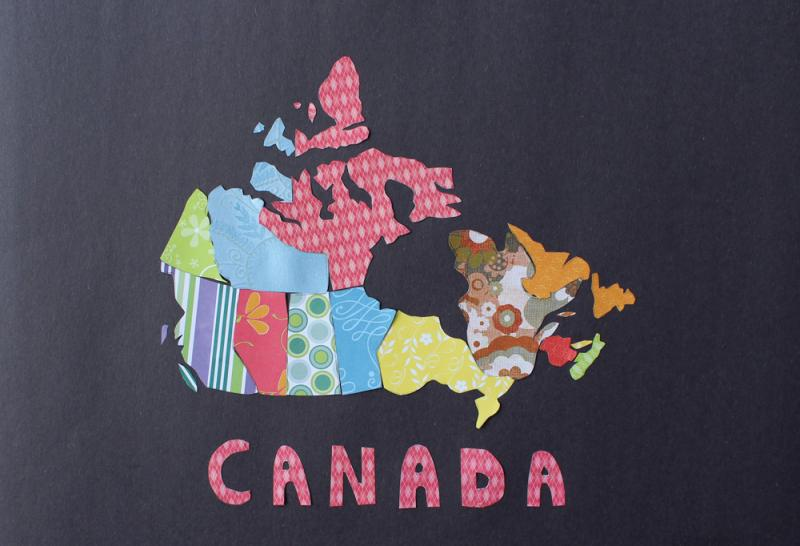 Patchwork Canada Map