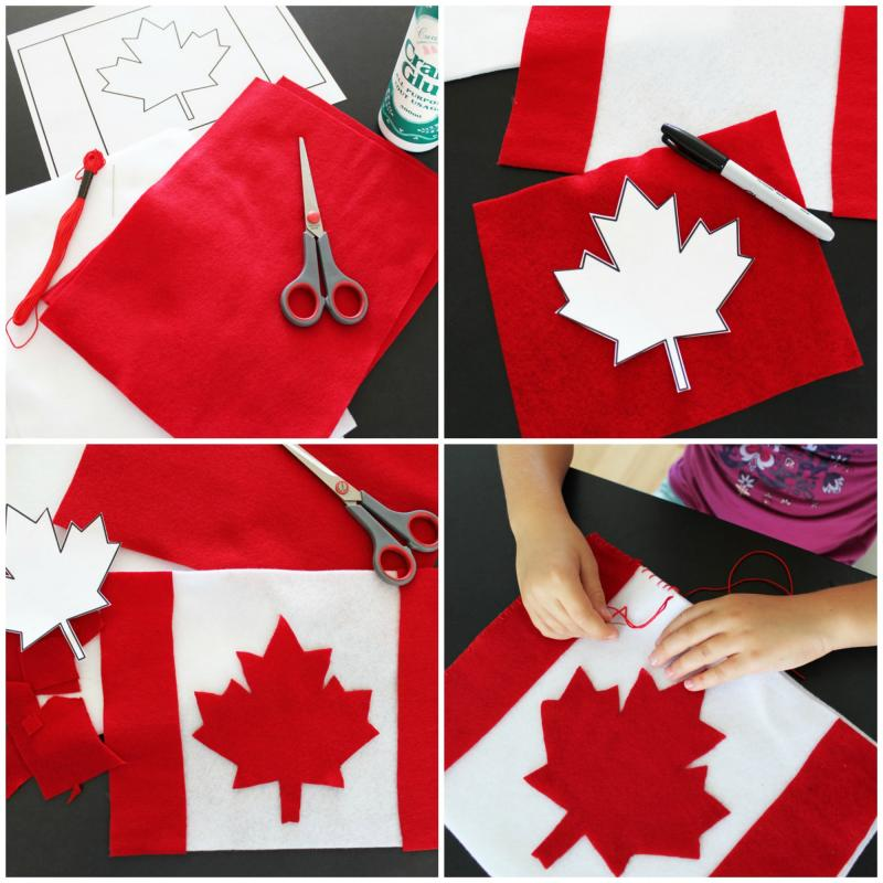Make a Canada flag pillow for your Maplelea Girl.