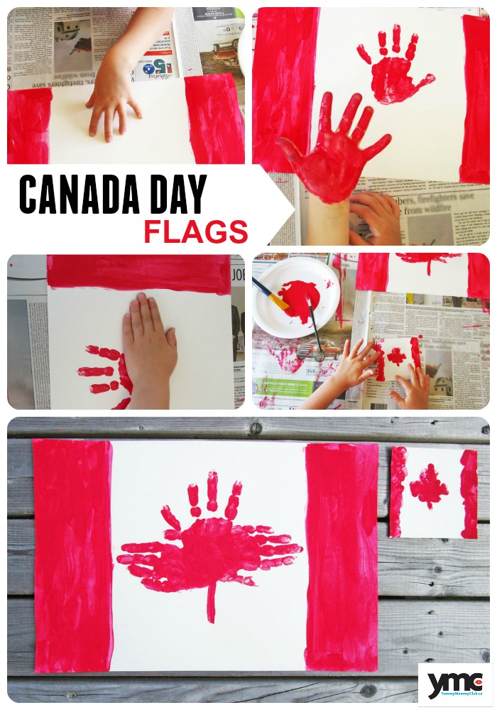 Handprint Canada Day Flag Placemats and Coasters