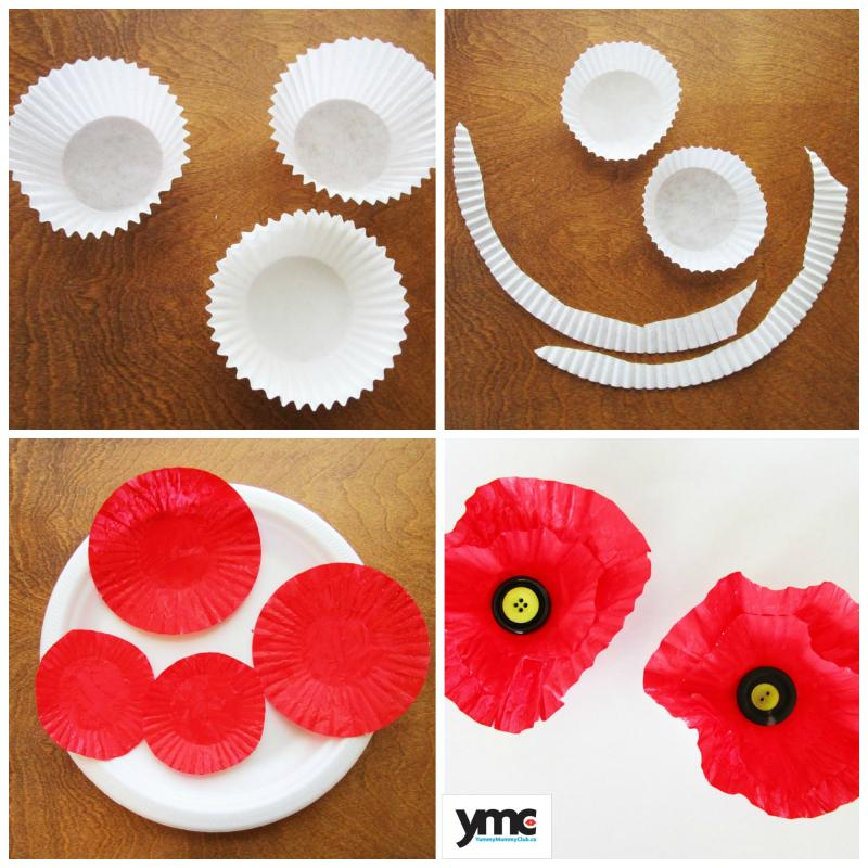 You can make poppies for Remembrance Day using muffin liners from the pantry.