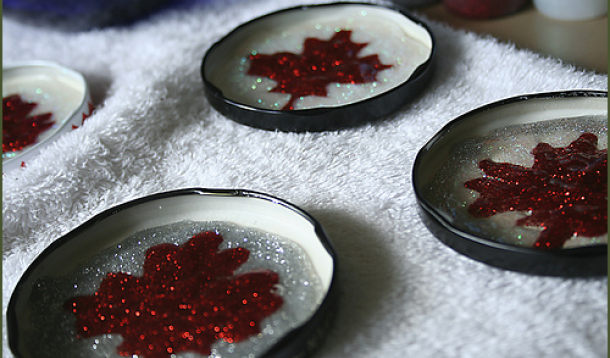 Canada Day Craft: DIY Maple Leaf Magnets