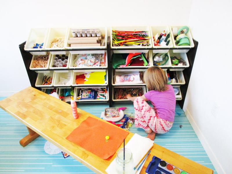 A place for everything and everything in its place. Craft room organization.