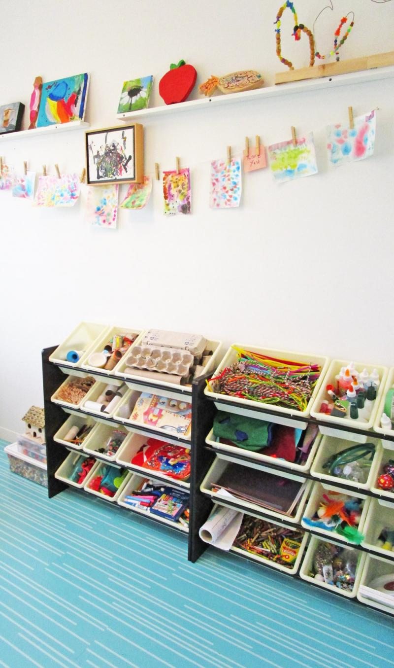 An organized craft space!