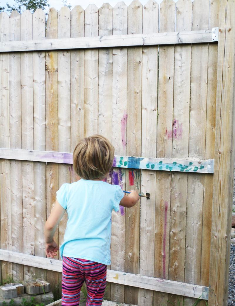 Paint a fence!