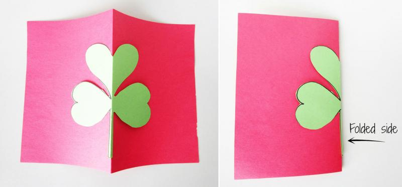 Use the cut-out shamrock as a template.