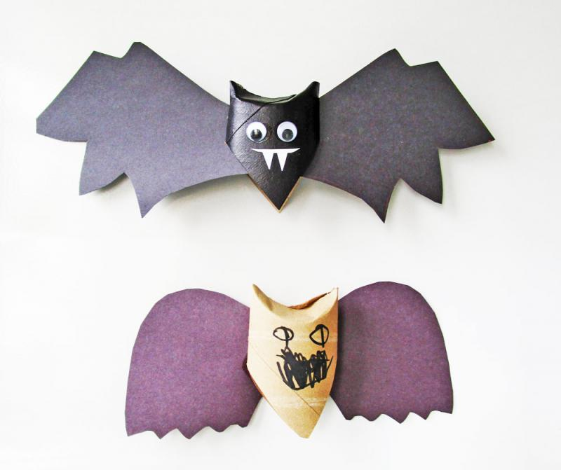 These 6 Boo-tiful and frugal homemade Halloween decorations are the perfect easy crafts for your kids to make on a gloomy fall day! Recycled toilet paper rolls and juice boxes and other household items make these perfect for cheap DIY Halloween party decor or school art projects! | YummyMummyClub.ca