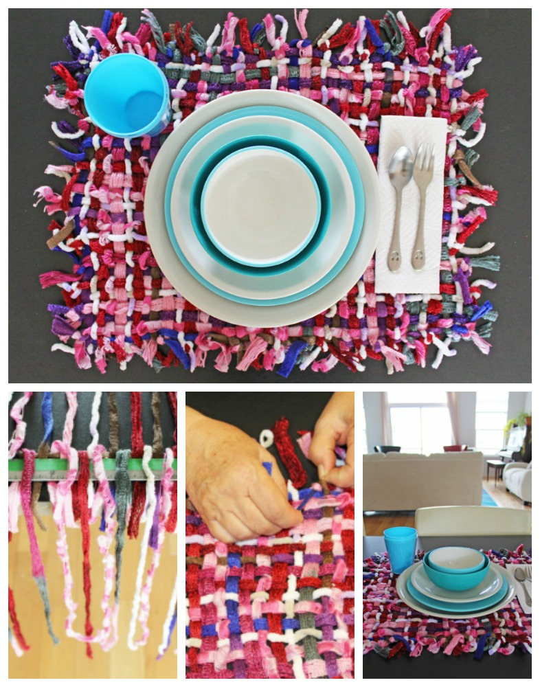 Make a woven placemat, without a loom.