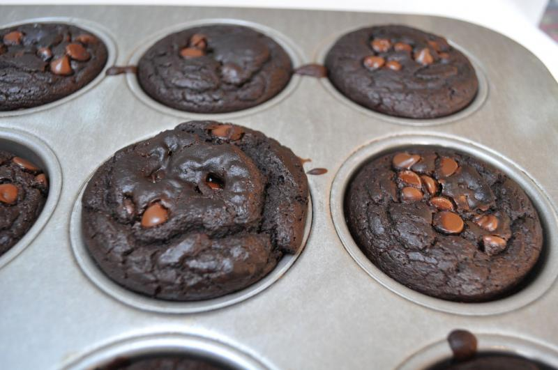Chocolate Lentil Lunchbox Muffins